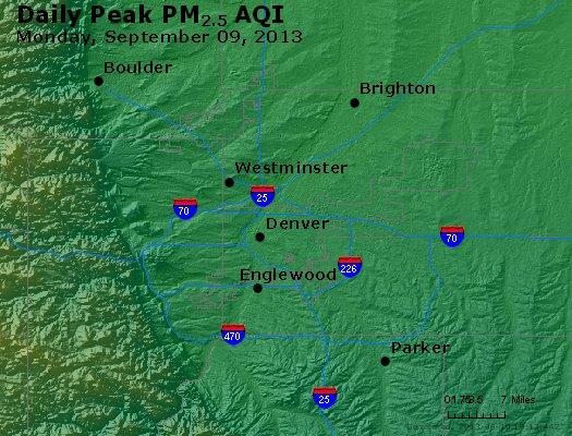 Peak Particles PM<sub>2.5</sub> (24-hour) - https://files.airnowtech.org/airnow/2013/20130909/peak_pm25_denver_co.jpg