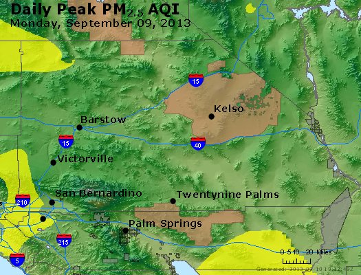 Peak Particles PM<sub>2.5</sub> (24-hour) - https://files.airnowtech.org/airnow/2013/20130909/peak_pm25_sanbernardino_ca.jpg