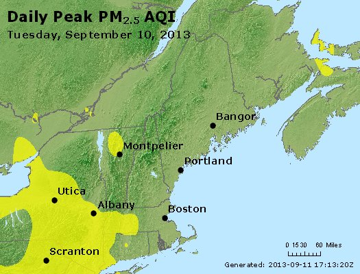 Peak Particles PM<sub>2.5</sub> (24-hour) - https://files.airnowtech.org/airnow/2013/20130910/peak_pm25_vt_nh_ma_ct_ri_me.jpg