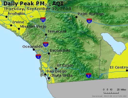 Peak Particles PM<sub>2.5</sub> (24-hour) - https://files.airnowtech.org/airnow/2013/20130912/peak_pm25_sandiego_ca.jpg