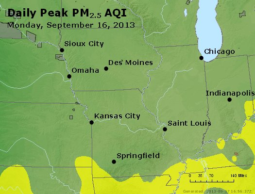 Peak Particles PM<sub>2.5</sub> (24-hour) - https://files.airnowtech.org/airnow/2013/20130916/peak_pm25_ia_il_mo.jpg