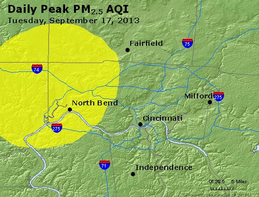 Peak Particles PM<sub>2.5</sub> (24-hour) - https://files.airnowtech.org/airnow/2013/20130917/peak_pm25_cincinnati_oh.jpg