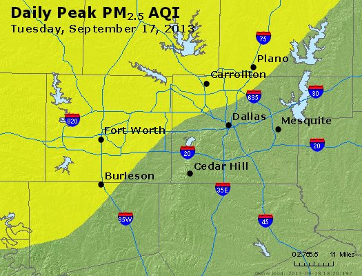 Peak Particles PM2.5 (24-hour) - https://files.airnowtech.org/airnow/2013/20130917/peak_pm25_dallas_tx.jpg