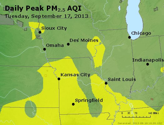 Peak Particles PM<sub>2.5</sub> (24-hour) - https://files.airnowtech.org/airnow/2013/20130917/peak_pm25_ia_il_mo.jpg