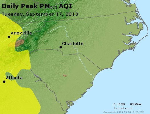 Peak Particles PM2.5 (24-hour) - https://files.airnowtech.org/airnow/2013/20130917/peak_pm25_nc_sc.jpg