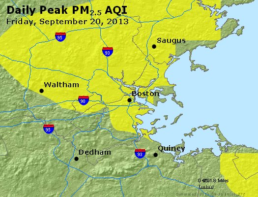 Peak Particles PM<sub>2.5</sub> (24-hour) - https://files.airnowtech.org/airnow/2013/20130920/peak_pm25_boston_ma.jpg