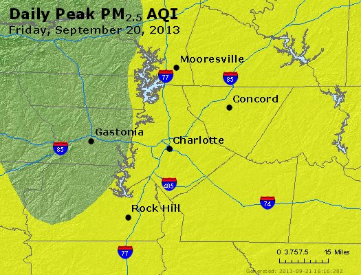 Peak Particles PM<sub>2.5</sub> (24-hour) - https://files.airnowtech.org/airnow/2013/20130920/peak_pm25_charlotte_nc.jpg