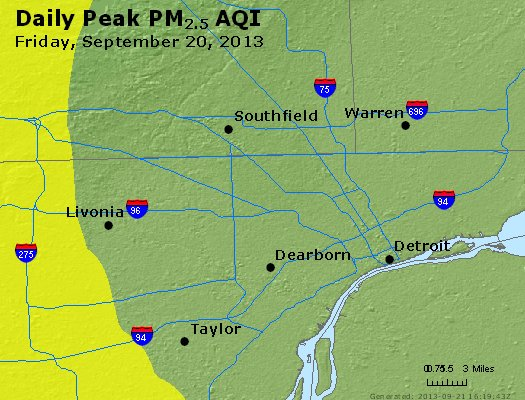 Peak Particles PM<sub>2.5</sub> (24-hour) - https://files.airnowtech.org/airnow/2013/20130920/peak_pm25_detroit_mi.jpg