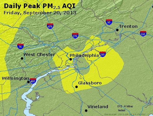 Peak Particles PM<sub>2.5</sub> (24-hour) - https://files.airnowtech.org/airnow/2013/20130920/peak_pm25_philadelphia_pa.jpg