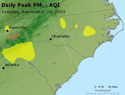 Peak Particles PM2.5 (24-hour) - https://files.airnowtech.org/airnow/2013/20130924/peak_pm25_nc_sc.jpg