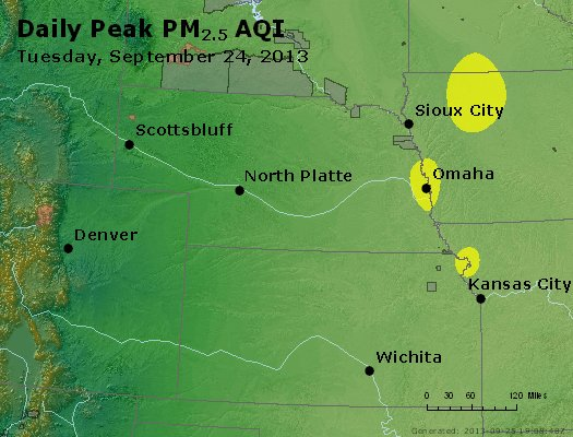 Peak Particles PM<sub>2.5</sub> (24-hour) - https://files.airnowtech.org/airnow/2013/20130924/peak_pm25_ne_ks.jpg