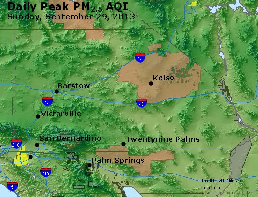 Peak Particles PM<sub>2.5</sub> (24-hour) - https://files.airnowtech.org/airnow/2013/20130929/peak_pm25_sanbernardino_ca.jpg