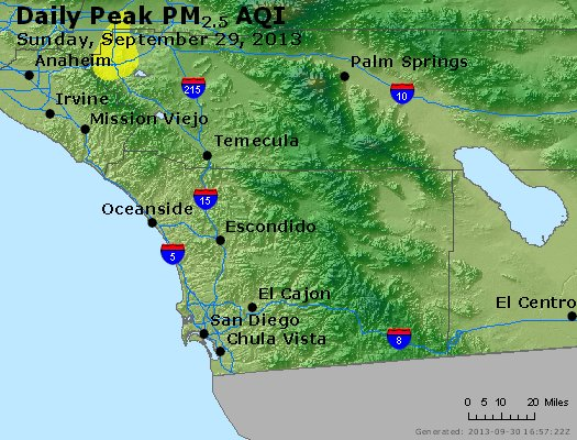 Peak Particles PM<sub>2.5</sub> (24-hour) - https://files.airnowtech.org/airnow/2013/20130929/peak_pm25_sandiego_ca.jpg