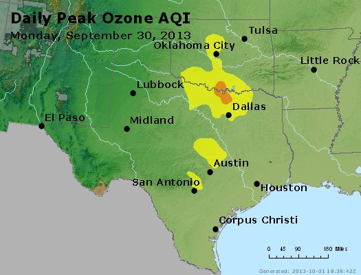 Peak Ozone (8-hour) - https://files.airnowtech.org/airnow/2013/20130930/peak_o3_tx_ok.jpg