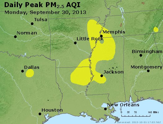 Peak Particles PM2.5 (24-hour) - https://files.airnowtech.org/airnow/2013/20130930/peak_pm25_ar_la_ms.jpg