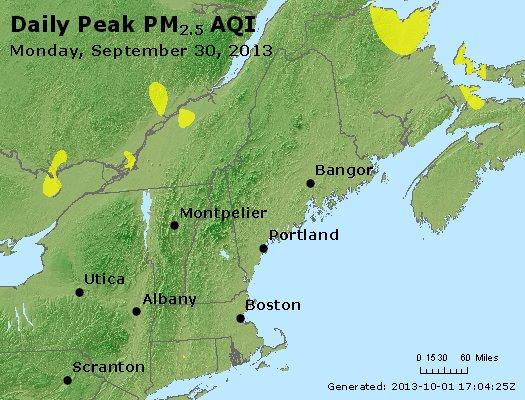 Peak Particles PM<sub>2.5</sub> (24-hour) - https://files.airnowtech.org/airnow/2013/20130930/peak_pm25_vt_nh_ma_ct_ri_me.jpg