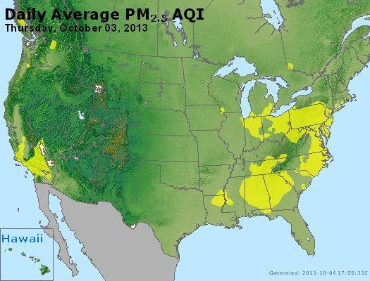 Peak Particles PM<sub>2.5</sub> (24-hour) - https://files.airnowtech.org/airnow/2013/20131003/peak_pm25_usa.jpg