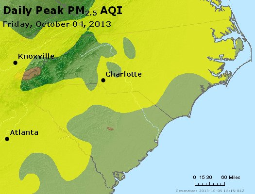 Peak Particles PM2.5 (24-hour) - https://files.airnowtech.org/airnow/2013/20131004/peak_pm25_nc_sc.jpg
