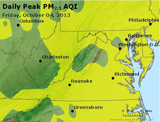 Peak Particles PM2.5 (24-hour) - https://files.airnowtech.org/airnow/2013/20131004/peak_pm25_va_wv_md_de_dc.jpg