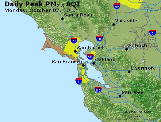 Peak Particles PM<sub>2.5</sub> (24-hour) - https://files.airnowtech.org/airnow/2013/20131007/peak_pm25_sanfrancisco_ca.jpg