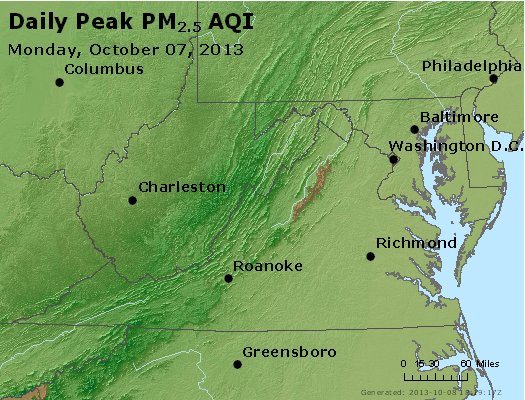 Peak Particles PM2.5 (24-hour) - https://files.airnowtech.org/airnow/2013/20131007/peak_pm25_va_wv_md_de_dc.jpg