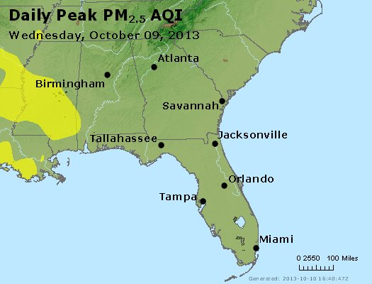 Peak Particles PM2.5 (24-hour) - https://files.airnowtech.org/airnow/2013/20131009/peak_pm25_al_ga_fl.jpg