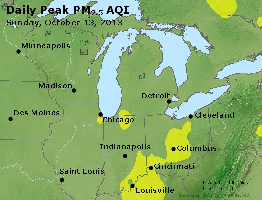 Peak Particles PM<sub>2.5</sub> (24-hour) - https://files.airnowtech.org/airnow/2013/20131013/peak_pm25_mi_in_oh.jpg