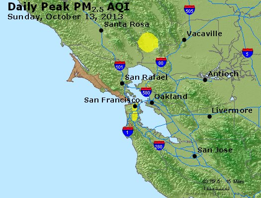 Peak Particles PM<sub>2.5</sub> (24-hour) - https://files.airnowtech.org/airnow/2013/20131013/peak_pm25_sanfrancisco_ca.jpg