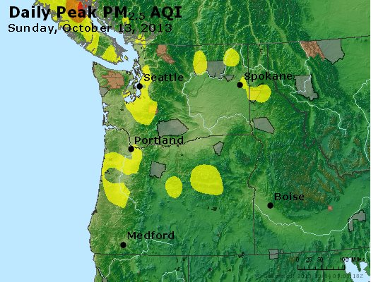 Peak Particles PM<sub>2.5</sub> (24-hour) - https://files.airnowtech.org/airnow/2013/20131013/peak_pm25_wa_or.jpg