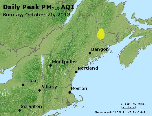 Peak Particles PM<sub>2.5</sub> (24-hour) - https://files.airnowtech.org/airnow/2013/20131020/peak_pm25_vt_nh_ma_ct_ri_me.jpg