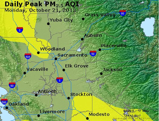 Peak Particles PM<sub>2.5</sub> (24-hour) - https://files.airnowtech.org/airnow/2013/20131021/peak_pm25_sacramento_ca.jpg