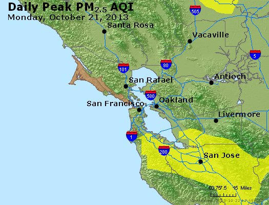 Peak Particles PM<sub>2.5</sub> (24-hour) - https://files.airnowtech.org/airnow/2013/20131021/peak_pm25_sanfrancisco_ca.jpg