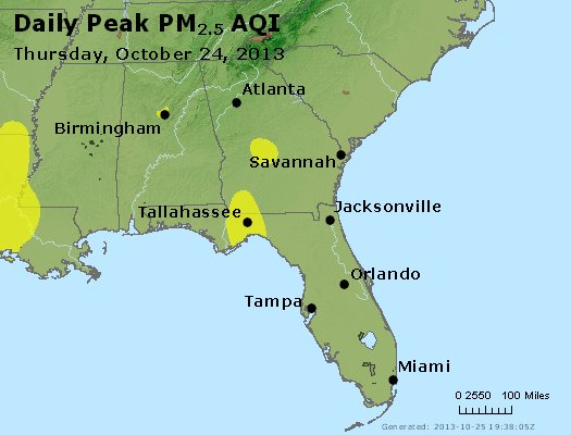 Peak Particles PM2.5 (24-hour) - https://files.airnowtech.org/airnow/2013/20131024/peak_pm25_al_ga_fl.jpg