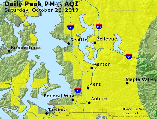 Peak Particles PM<sub>2.5</sub> (24-hour) - https://files.airnowtech.org/airnow/2013/20131026/peak_pm25_seattle_wa.jpg