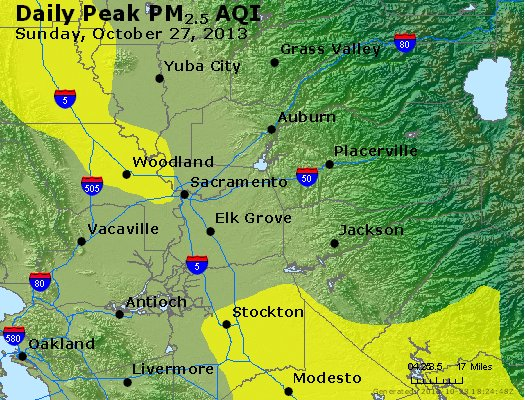 Peak Particles PM<sub>2.5</sub> (24-hour) - https://files.airnowtech.org/airnow/2013/20131027/peak_pm25_sacramento_ca.jpg