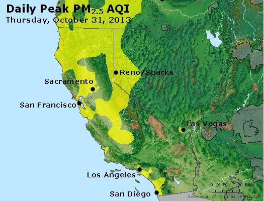 Peak Particles PM2.5 (24-hour) - https://files.airnowtech.org/airnow/2013/20131031/peak_pm25_ca_nv.jpg
