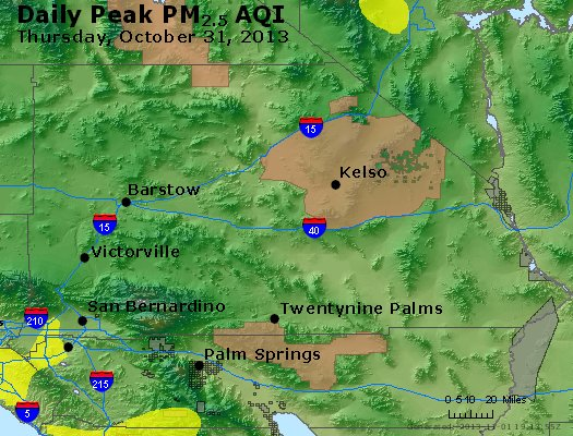 Peak Particles PM<sub>2.5</sub> (24-hour) - https://files.airnowtech.org/airnow/2013/20131031/peak_pm25_sanbernardino_ca.jpg