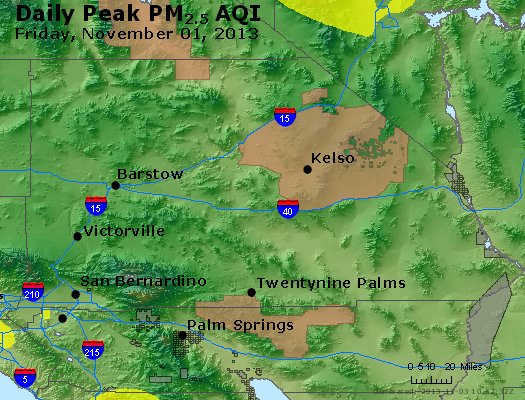 Peak Particles PM<sub>2.5</sub> (24-hour) - https://files.airnowtech.org/airnow/2013/20131102/peak_pm25_sanbernardino_ca.jpg