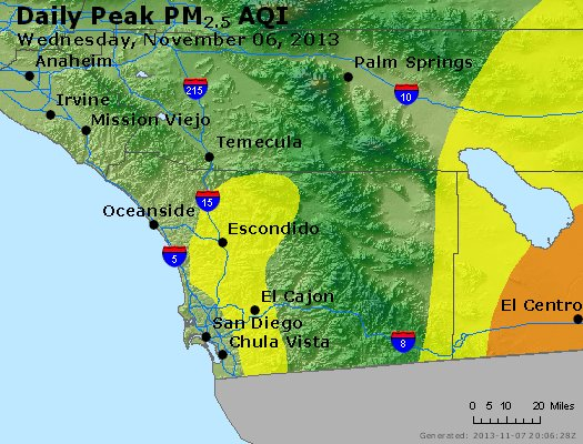 Peak Particles PM<sub>2.5</sub> (24-hour) - https://files.airnowtech.org/airnow/2013/20131106/peak_pm25_sandiego_ca.jpg