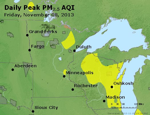 Peak Particles PM2.5 (24-hour) - https://files.airnowtech.org/airnow/2013/20131108/peak_pm25_mn_wi.jpg