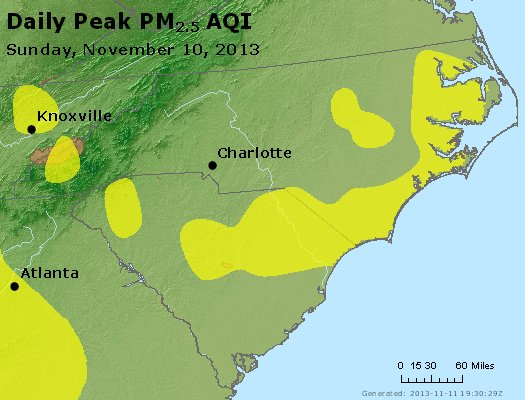 Peak Particles PM2.5 (24-hour) - https://files.airnowtech.org/airnow/2013/20131110/peak_pm25_nc_sc.jpg
