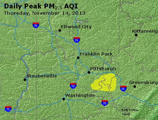 Peak Particles PM<sub>2.5</sub> (24-hour) - https://files.airnowtech.org/airnow/2013/20131114/peak_pm25_pittsburgh_pa.jpg