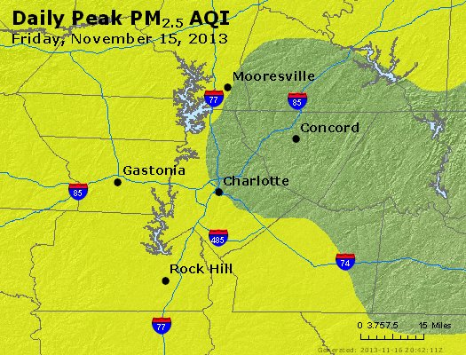 Peak Particles PM<sub>2.5</sub> (24-hour) - https://files.airnowtech.org/airnow/2013/20131115/peak_pm25_charlotte_nc.jpg