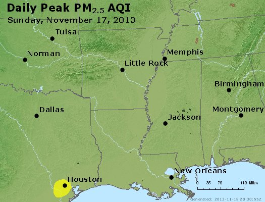 Peak Particles PM2.5 (24-hour) - https://files.airnowtech.org/airnow/2013/20131117/peak_pm25_ar_la_ms.jpg