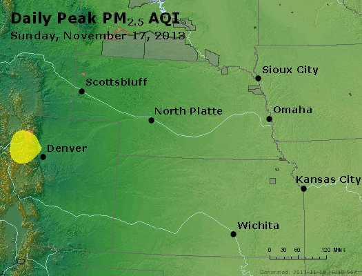 Peak Particles PM<sub>2.5</sub> (24-hour) - https://files.airnowtech.org/airnow/2013/20131117/peak_pm25_ne_ks.jpg