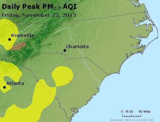 Peak Particles PM2.5 (24-hour) - https://files.airnowtech.org/airnow/2013/20131122/peak_pm25_nc_sc.jpg