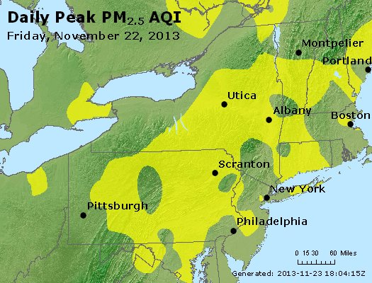 Peak Particles PM<sub>2.5</sub> (24-hour) - https://files.airnowtech.org/airnow/2013/20131122/peak_pm25_ny_pa_nj.jpg