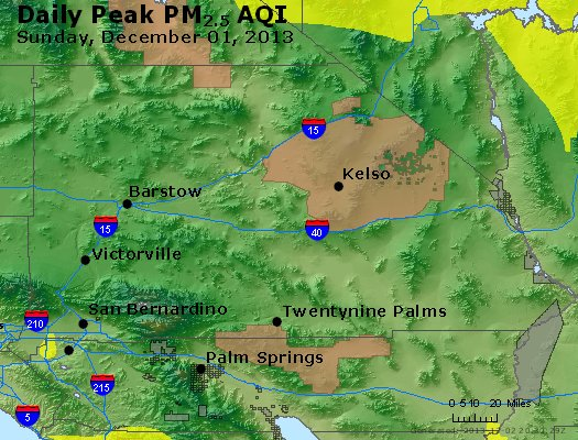 Peak Particles PM<sub>2.5</sub> (24-hour) - https://files.airnowtech.org/airnow/2013/20131201/peak_pm25_sanbernardino_ca.jpg