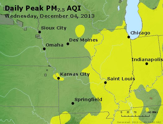Peak Particles PM<sub>2.5</sub> (24-hour) - https://files.airnowtech.org/airnow/2013/20131204/peak_pm25_ia_il_mo.jpg