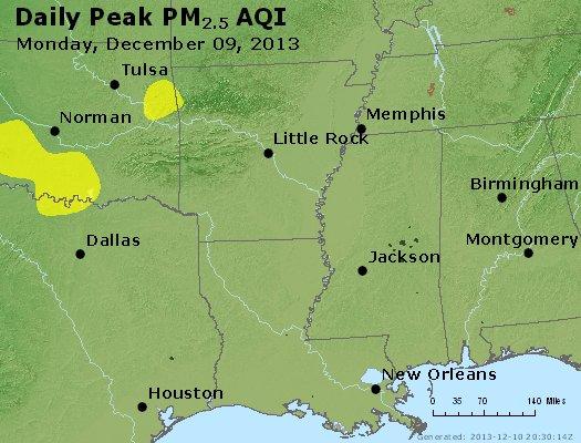 Peak Particles PM2.5 (24-hour) - https://files.airnowtech.org/airnow/2013/20131209/peak_pm25_ar_la_ms.jpg